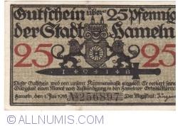 Image #1 of 25 Pfennig 1918 - Hameln