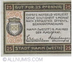 Image #2 of 25 Pfennig 1920 - Hamm