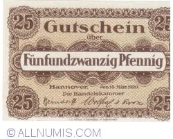 Image #1 of 25 Pfennig 1920 - Hanover