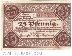 Image #1 of 25 Pfennig 1921 - Hanover