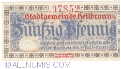 Image #1 of 50 Pfennig 1917 - Heilbronn