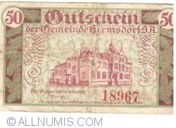 Image #2 of 50 Pfennig 1919 - Hermsdorf