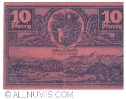 Image #2 of 10 Pfennig ND - Hirschberg