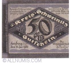 Image #2 of 50 Pfennig 1920 - Herzberg