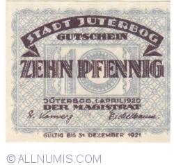 Imaginea #2 a 10 Pfennig 1920 - Jüterbog