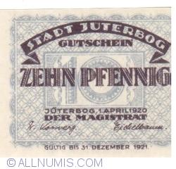 Imaginea #1 a 10 Pfennig 1920 - Jüterbog