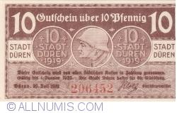 Image #1 of 10 Pfennig 1919 - Düren