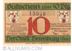 Image #1 of 10 Pfennig 1919 - Derenburg