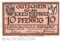 Image #1 of 10 Pfennig 1920 - Diepholz