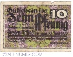 10 Pfennig 1920 - Dresden
