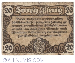 Image #2 of 20 Pfennig 1920 - Erfurt