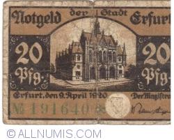 Image #1 of 20 Pfennig 1920 - Erfurt