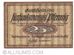 Image #1 of 25 Pfennig 1919 - Dresden-Neufstadt