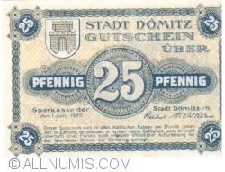 Image #1 of 25 Pfennig 1920 - Dömitz