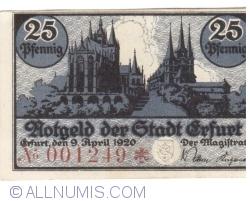 Image #1 of 25 Pfennig 1920 - Erfurt