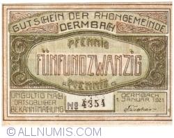 Image #1 of 25 Pfennig 1921 - Dermbach