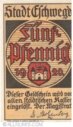 Image #1 of 5 Pfennig 1920 - Eschwege