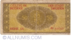 Image #2 of 50 Pfennig 1917 - Dresden