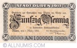 Image #1 of 50 Pfennig 1917 - Düren