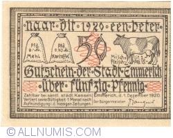 Imaginea #1 a 50 Pfennig 1920 - Emmerich