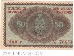 Image #2 of 50 Pfennig 1921 - Dresden