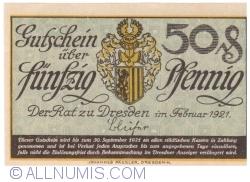 Image #1 of 50 Pfennig 1921 - Dresden