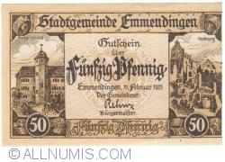 Image #1 of 50 Pfennig 1921 - Emmendingen