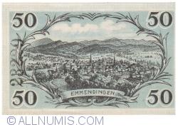Image #2 of 50 Pfennig 1921 - Emmendingen