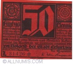 Image #1 of 50 Pfennig 1921 - Erfurt