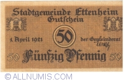 Image #1 of 50 Pfennig 1921 - Ettenheim