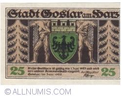 Image #2 of 25 Pfennig 1920 - Goslar