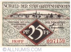 25 Pfennig 1921 - Gräfenhainichen