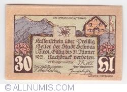 Imaginea #2 a 30 Heller 1921 (5. Auflage) - Schwaz