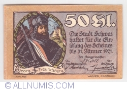 50 Heller 1921 (1. Auflage) - Schwaz