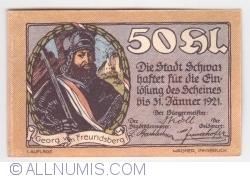 Imaginea #1 a 50 Heller 1921 (1. Auflage) - Schwaz