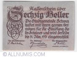60 Heller 1921 (4. Auflage) - Schwaz