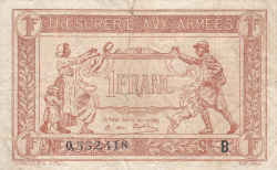 Image #1 of 1 Franc ND (1917)