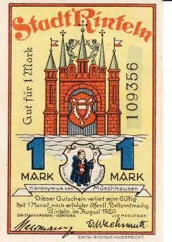 Image #2 of 1 Mark 1920 - Rinteln