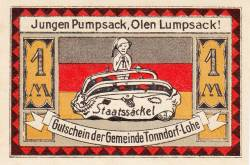 Image #2 of 1 Mark 1921 - Tonndorf-Lohe