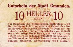 Image #2 of 10 Heller 1919 - Gmunden