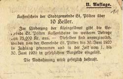 Image #2 of 10 Heller 1919 - Sankt Pölten