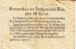 Imaginea #2 a 10 Heller 1919 - Viena