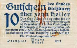 Image #1 of 10 Heller 1919 - Land Salzburg