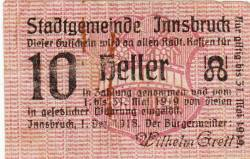 10 Heller 1918 - Innsbruck