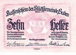 Imaginea #1 a 10 Heller 1920 - Baden