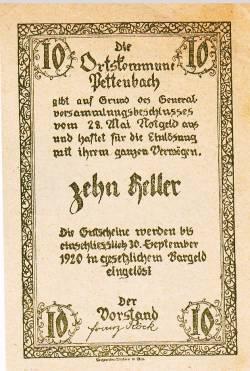 Image #2 of 10 Heller 1920 - Pettenbach