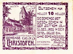 Imaginea #1 a 10 Heller 1920 - Christofen