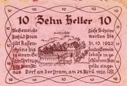 Imaginea #2 a 10 Heller 1920 - Dorf an der Pram