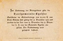 10 Heller 1920 - Egelsee
