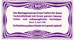 Imaginea #2 a 10 Heller 1920 - Erlauf